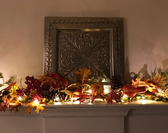 Fall Mantle Garland, Autumn Decor, Fall Garland, Gord Garland, Pumpkin Garland, Fireplace Garland