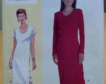 Vogue 7055 pullover dress sewing pattern Size medium. UNCUT