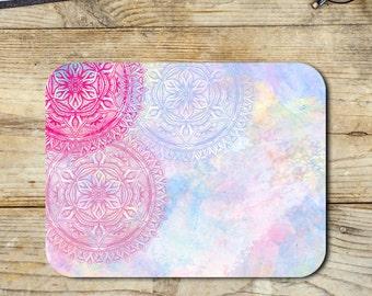 Mandala Watercolour Neoprene Mouse Pad Novelty Gifts Home Office Decor