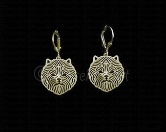 Cairn Terrier earrings - Gold