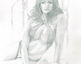 Original Vampirella Drawing
