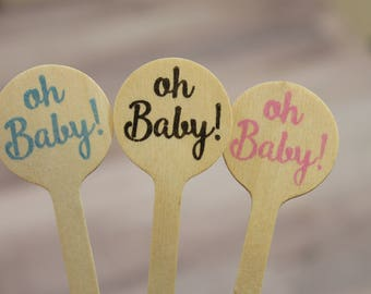 oh Baby!  Drink Stirrers