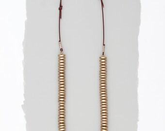 Golden Goddess Disk Necklace