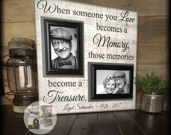 Bereavement Gifts | Condolence Gift | Memorial Photo Frame | Sympathy Gifts | Loss of Father | In Memory of Dad | Personalized Picture Frame