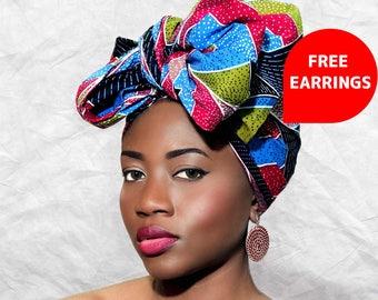 AFRICAN PRINT HEADWRAP- ankara, headwrap, protective styling,turban, kitenge