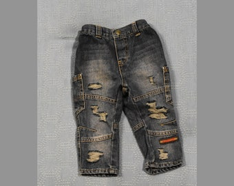 12-18MO Distressed Cargo Jeans