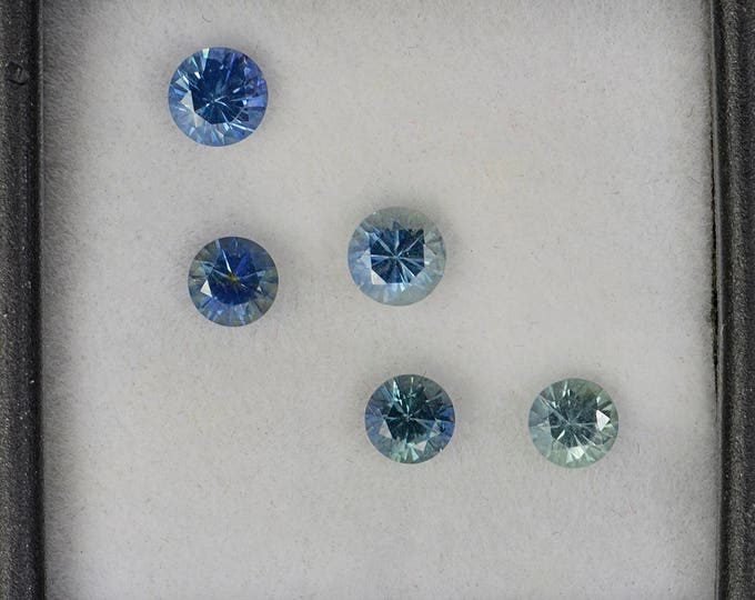 UPRISING SALE! Excellent Blue Green Sapphire Gemstone Set from Montana 1.96 tcw.