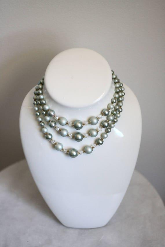 1960s bauble necklace // 1960s multi strand necklace // vintage jewlery