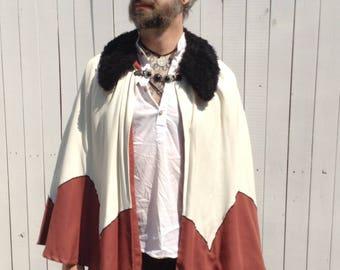Fur Collar Capelet, Short Cape
