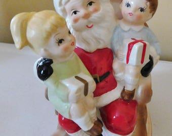vintage 1983 Rocking Santa Music Box Ebeling & Reuss