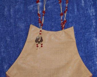 1950's Vintage Handmade Purse Handbag Shoulder-Bag Unique Rare Made of Henequen Agave
