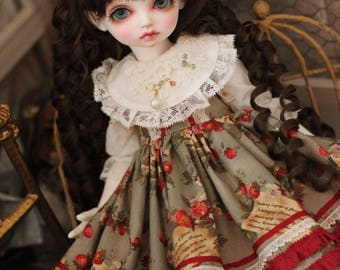 Yellow Floral, dress for MSD/Rosenlied holiday /  slim MSD (BJD)