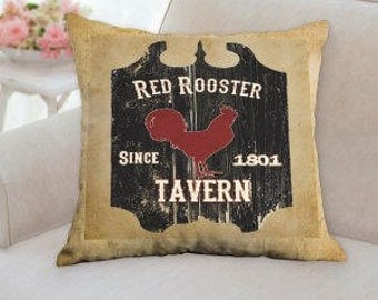 Red Rooster Tavern Pillow