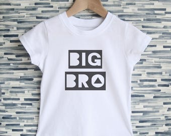 Big Brother T-shirt - Big Bro Tee, Boys Shirt, Pregnancy Announcement, Sibling Gift, Brother T Shirt, Modern Boys Clothing, Shower Gift