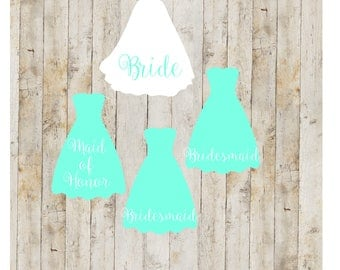 Bridal Party Gifts, Bridal party decal set, Bridal Party Gifts, Bridal Sets, Wedding Accessories, Wedding Decals, Wedding Sets, Wedding, A2