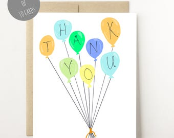 Thank You Cards Set - Thank You Cards Baby Shower - Kids Stationery Set - Thank You Cards Birthday Party - Kids Thank You Cards