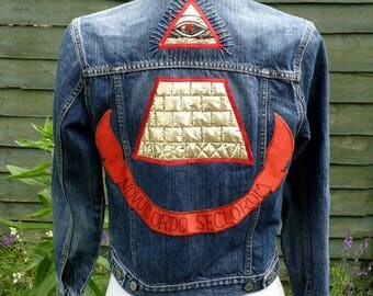 Upcycled Denim desperately seeking Susan jacket UK 8, US 4