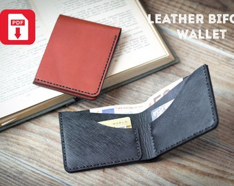 Wallet pattern pdf / Leather Bifold wallet pattern / Mens bifold wallet pattern / Leather wallet pattern pdf /