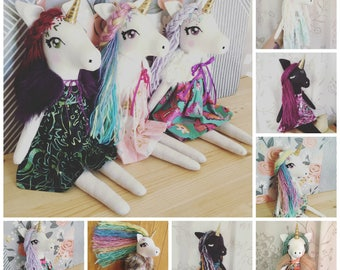 CUSTOM Unicorn OR Pegasus Doll Handmade Doll Handmade Unicorn