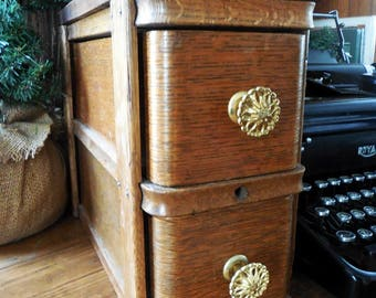 Antique Sewing Machine Cabinet Drawers, Sewing Organizer, Pantry or Kitchen Counter Storage