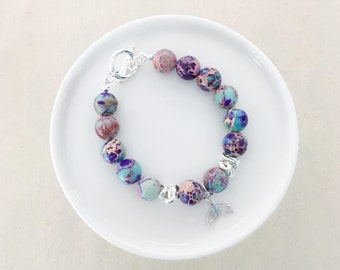LIMITED EDITION - Merbabe Beaded Bracelet  - Silver Hardware - Summer Collection