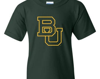 Baylor Bears Primary Logo Youth T-Shirt - Forest