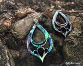 Teardrop Earrings — Abalone Earrings, Tear Drop Earrings, Long Dangle Earrings, Teardrop Shaped, Nature Earrings Gift, Unique Earrings