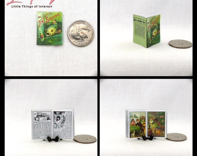 The LITTLE TIN SOLDIER Miniature Book Dollhouse 1:12 Scale Book Illustrated Book Color Illustrated Children