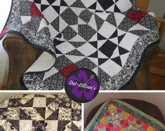 Quilted Wall Hangings, Quilt Pattern Bundle, PDF Digital Instant Download, Beginner Quilt Patterns, Advanced Beginner Quilt Patterns