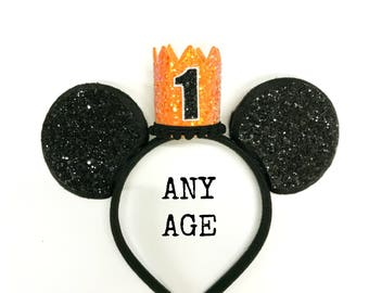 Mickey Headband || Halloween Mickey || Minnie Birthday Ears || First Birthday Outfit || Minnie Ears || Disney Any Age Birthday Outfit