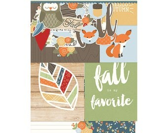 Simple Stories Hello Fall SN@P! Pack, Includes Double-Sided Cards and Bits and Pieces