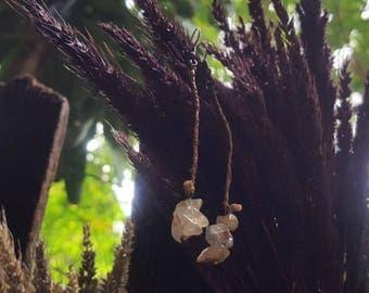Rutile Quartz earrings/Water Hyacinth/Wire Wrapped earrings/Wire Wrapped jewelry/Natural jewelry/Boho/Gypsy/Gift/Dangle and Drop earrings