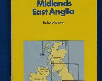 Vintage Folding Road Map England South East Midlands East Anglia 1984 Michelin 404