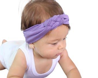 Lilac Baby Turban, Soft Baby Headband, Baby Knot Headband, Baby Headband, Baby Turban, Lilac Headband, Lilac Knot Headband, Purple Headband