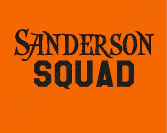 SANDERSON SQUAD Sparkly DIY Iron On Halloween Sparkle Glitter Decal in any Color - Baby, Girls Ladies Adult Bodysuit tee or tank size