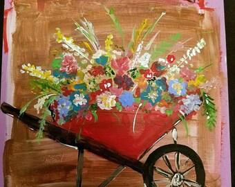 Wheelbarrow Painting