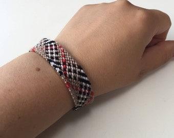 Burberry bracelet Frienship bracelet Woven beige bracelet Handmade woven bracelet Burberry like wristband