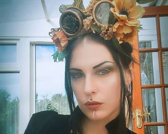 Gothic/steampunk/steampunk headpiece/gothic headpiece/steampunk goggles/fantasy/post apocalyptic/vintage/steampunk wedding