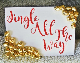 Jingle All The Way Canvas Plaque