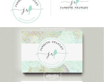 lovley simple Bird- hand sketched - BIRD boutique Logo branding kit products business card sketchy  photographer branding initials artistic
