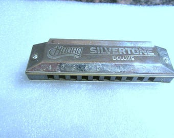 Vintage Huang Silvertone Deluxe Harmonica - Musical Instruments - Harmonica - Collectibles - Music - FREE SHIP
