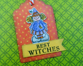 Best Witches -- Halloween Tag -- Halloween Witch Tag -- Cute Witch -- Halloween Gift Tag