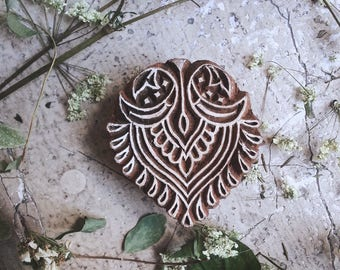 Pad wooden piece hand carved unique designs original medieval magic, Pagan, Celtic, tribal style