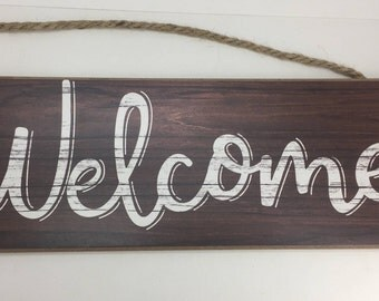 """Welcome Sign, Sign For Wreath, Wreath Supply, Signs With Sayings, Craft Supply, Signs For Home, Rustic Look Sign, 15"""", 800799, D5"""