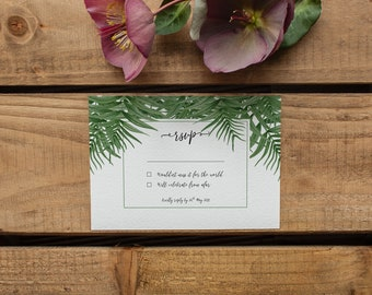 CATALINA // Wedding Stationery // RSVP Card