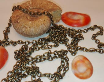 Bronze colored chain link 2.5 mm * 3.5 meter