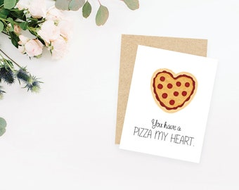 Pizza My Heart greeting card / blank inside