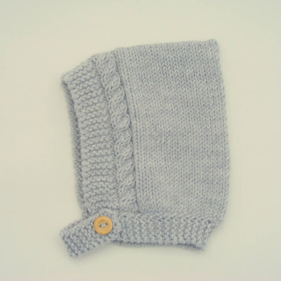 Cable Knit Pixie Hat in Salty Grey - Sizes Newborn to Age 4 years