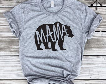 Mama Bear. Mama Bear Shirt. Mama Bear Tshirt. New Mom Shirt
