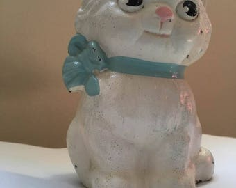 Vintage Original Cast Iron  Hubley Kitten Bank